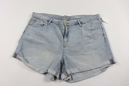 New Gap Women's 34 Regular Embroidered Floral Denim Jean Shorts Blue Cotton - $25.69