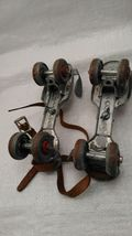 Metal Roller Skates Adjustable Primitive Farm Country Decor 2 Pairs Mid Century image 3