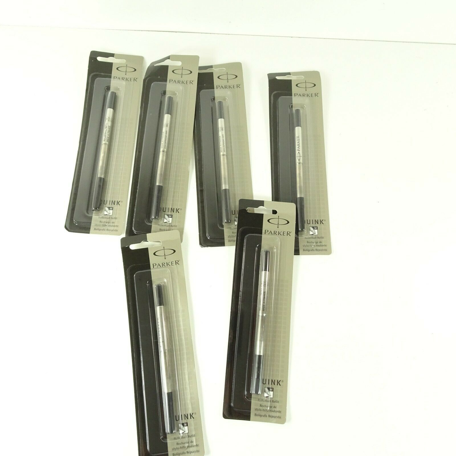 Lot of 6 Parker Quink Permanent Ink Refill Cartridges Roller  Medium Point, B - $26.99