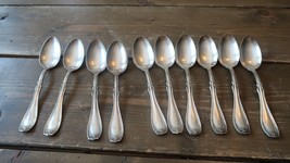 Antique 1916 Irving by W Rogers Onieda Silverplate 10 Spoons - $47.52