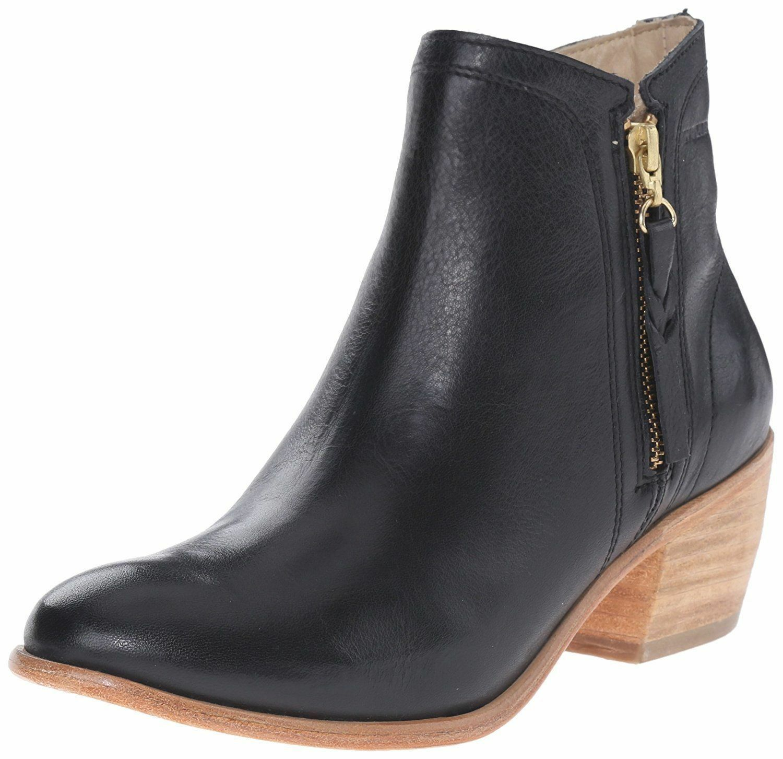 "NEW 1883 by Wolverine Women's Ella Black Leather 5"" Side Zip Ankle Booties NIB"