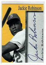 JACKIE ROBINSON Inkredible Ink Auto Autograph Facsimile - Baseball Card - $5.89