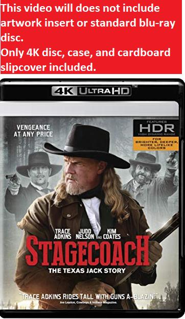 Stagecoach: The Texas Jack Story  (4K Ultra HD)