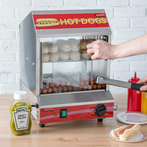 NIB Avantco 40 Bun 175 Hot Dog Steamer Commercial Warmer Stand 120V Free... - $274.00