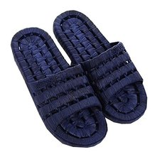 PANDA SUPERSTORE Men's Black Hollow Non-Slip Shower Slippers Household Sandals,