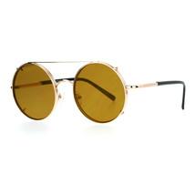 Sunglasses & Clear Glasses Clip On Flat Lens Round Circle Designer Frame - $12.95