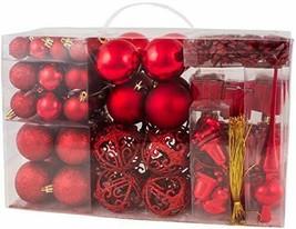Brubaker 101-piezas de Bolas de Navidad con Copas de árboles Rojos (Rojo) - $34.96