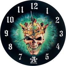 Pacific Giftware Prince of Oblivion Wall Clock by Alchemy Gothic Round Plate 13. - $19.99