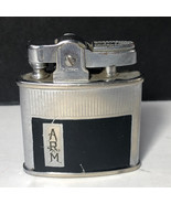 VINTAGE RONSON LIGHTER collectible tobacciana ARM silver black Newark St... - $19.75