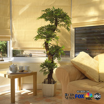 Artificial Plants and Trees, Luxury Faux Office Japanese Fruticosa Tree, Hand... - $138.59