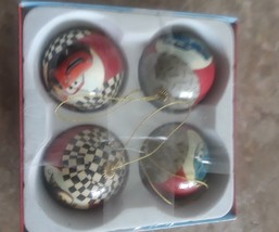 Disney Pixar Cars Christmas Ball Ornaments set of 4 Round Tow Mater McQu... - $12.14