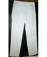 New Mens 34 X 37 NWT Designer Armani Collezioni Pants Linen 48 Italy Whi... - $239.20