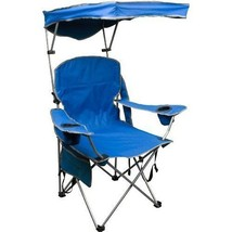 Blue Quick Shade Adjustable Canopy Folding Camping Chair and Sports Chair - $58.63
