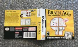 Brain Age **ORIGINAL CASE/BOX ART ONLY** Nintendo DS - $4.27