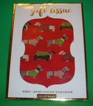 Dachshund Dog Holiday Christmas Gift Wrap Printed Tissue Paper 20 Sheets... - $10.00