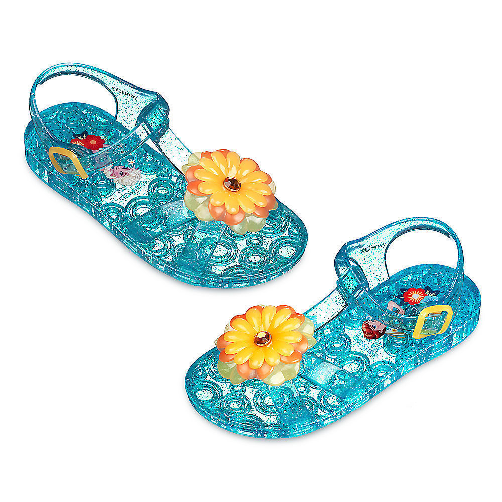 NEW NWT Disney Store Girls Frozen Fever Jelly Sandals Size 7 or 8 Toddler