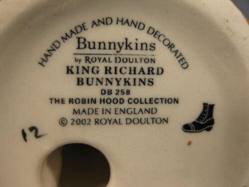 Royal Doulton King Richard Bunnykins DB258 England Retired Robin Hood Collection image 6