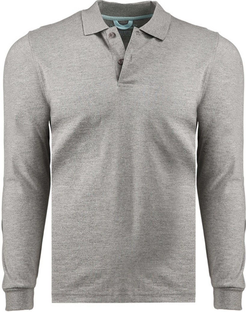 Primary image for Marquis Men's Heather Grey Long Sleeve Polo Jersey - Small
