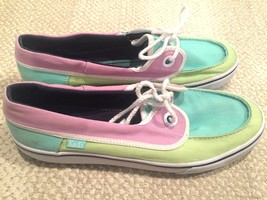 keds Women's Boat Sneakers Canvas WF46502 Multi Color Size 8.5 - $13.11 CAD