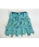 Naartjie 7 Forest Friends Aqua Turquoise Vertical Waterfall Ruffle Skirt... - $12.99