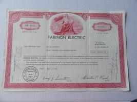 Farinon Electric Stock Certificate 1440 Shares 1972 - $4.99