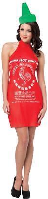 Sriracha Womens Costume Dress Hot Chili Sauce Adult Halloween Unique GC4626