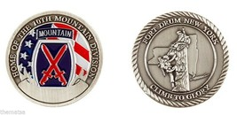 ARMY FORT DRUM CLIMB TO GLORY 10TH MOUNTAIN DIVISION CHALLENGE COIN - $16.24