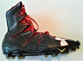 Under Armour Football Cleats Clutchfit Black/Red 1269693-061 Shoes Size 10.5 - $22.99