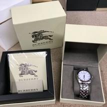 BURBERRY BU1852 Date New Heritage Quartz Wristwatch SS Silver - $373.99