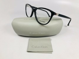 New Calvin Klein CK5814 001 Black & Silver Eyeglasses 53mm with Case & Cloth - $59.35
