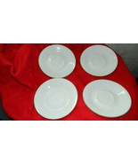 CORELLE SHADOW IRIS PATTERN SAUCERS x 4 GENTLY USED FREE USA SHIPPING - $17.75