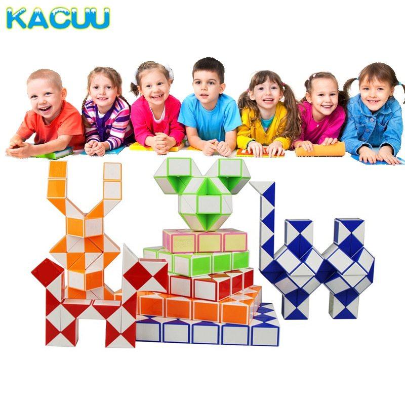New magic ruler snake kids educational toys puzzles magic cubes segment diy cube puzzle creative