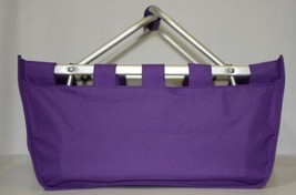 WB Brand MarketPur Large Purple Market Tote Collapsible image 1