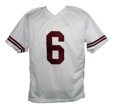 AC Slater #6 Saved By The Bell Men Football Jersey White Any Size image 2