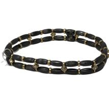 Lia Sophia Stretch Bracelet Crystals Hematite Tone & Matte Gold Tone Woodland - $10.88