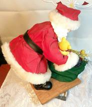 """VINTAGE SANTA CLAUS WITH BAG OF TOYS ON HEAVY CERAMIC FLOOR BASE -  10""""X10"""" image 8"""