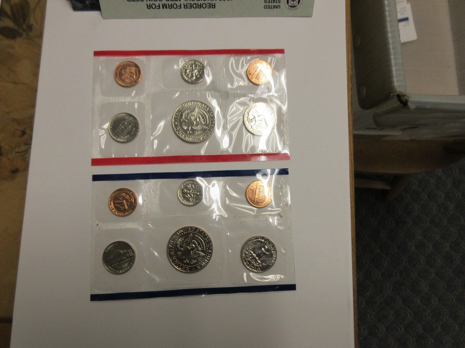1989 , United States Mint , Uncirculated Mint Set , Lot of 5 Sets image 5