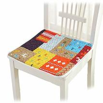 PANDA SUPERSTORE 4Pcs Chair Pads with Ties Soft Cotton Seat Cushions for Home Ki