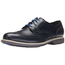 Cole Haan Great Jones Men's Wingtip Leather Oxfords Navy Leather Size 11 - $47.52