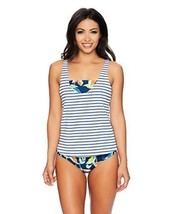 Splendid Women's Tropical Traveler Double Dip Bandeau Tankini Top (Size ... - $65.44