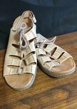 Easy Spirit Sandals Esphona Tan Beige  Leather 8M ml - $23.46