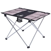 Portable Outdoor Ultralight Foldable Table with(LIGHT GRAY) - $31.27