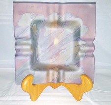 Rueven Hand Painted By Nouveau Art Glass Company USA Large Ashtray Dish ... - $29.91