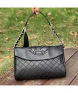 Tory Burch Fleming Distressed Leather Fold-Over Hobo - $446.00