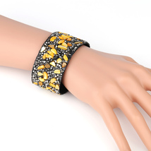 UNITED ELEGANCE Trendy Cuff Wristband With Stones & Swarovski Style Crystals - $11.99