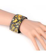 UNITED ELEGANCE Trendy Cuff Wristband With Stones & Swarovski Style Crys... - $11.99