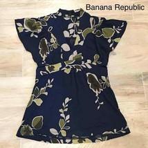 BANANA REPUBLIC Floral blue top XS - $24.00