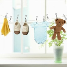 Clothes Holder Hanging Socks Pins Clips Household Clamps Drying Stainles... - $9.88