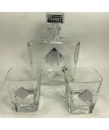 Franco Vetrerie e Cristallerie Liquor Decanter Lowball Glass Set - $49.45