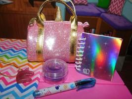 "18"" Doll School Accessories Unicorn Bag Lot B Glitr American Girl Our Generation - $19.79"